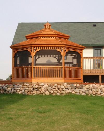 Gazebo Custom Addon Kit Attached to House Porch