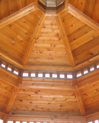 Custom Gazebo with Victorian ceiling
