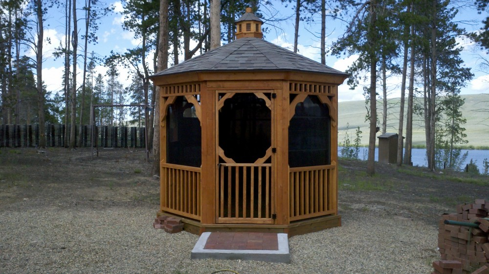 how to build two-tier roof for 12 w gazebo
