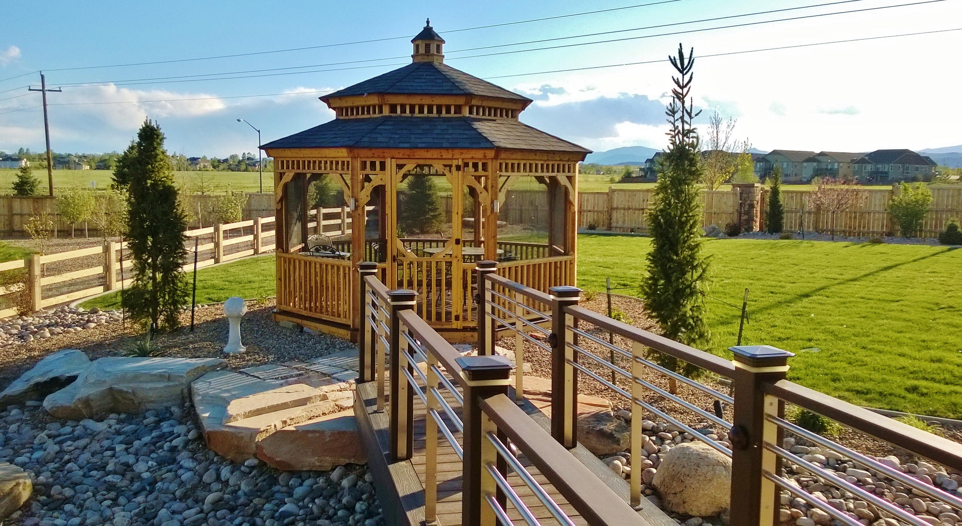Stunning Cedar Gazebo Built In Fort Collins Colorado