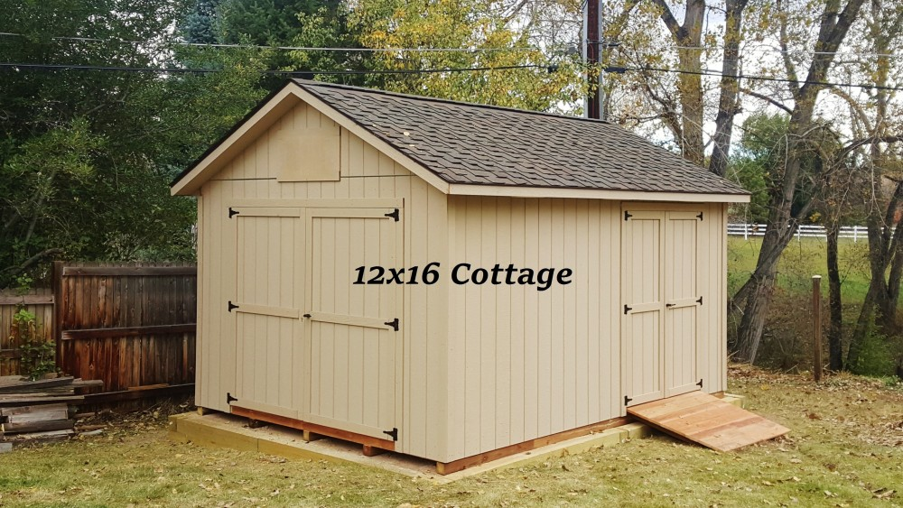 12x16 cottage storage shed for Shed roof cottage